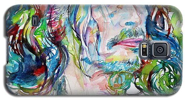 Steven Tyler Galaxy S5 Case - Steven Tyler - Watercolor Portrait by Fabrizio Cassetta