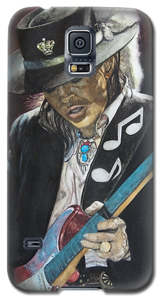 Galaxy S5 Case featuring the painting Stevie Ray Vaughan  by Lance Gebhardt