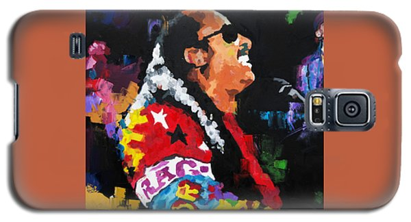 Galaxy S5 Case featuring the painting Stevie Wonder Live by Richard Day