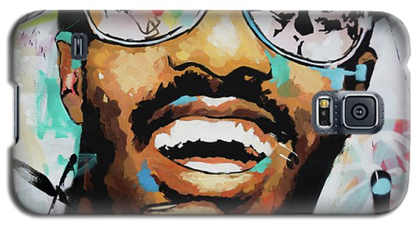 Galaxy S5 Case featuring the painting Stevie Wonder Portrait by Richard Day