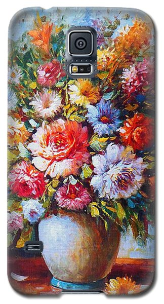 Still Life Colourful Flowers In Bloom Galaxy S5 Case