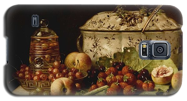 Still Life  Fruit And Dishes  Late 19th Century Oil On Panel Gottfried Schultz  German  1842  1919 Galaxy S5 Case