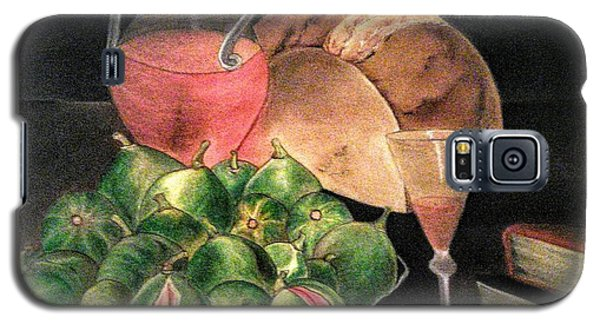 Still Life Of Figs, Wine, Bread And Books Galaxy S5 Case