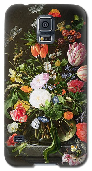 Still Life Of Flowers Galaxy S5 Case by Jan Davidsz de Heem