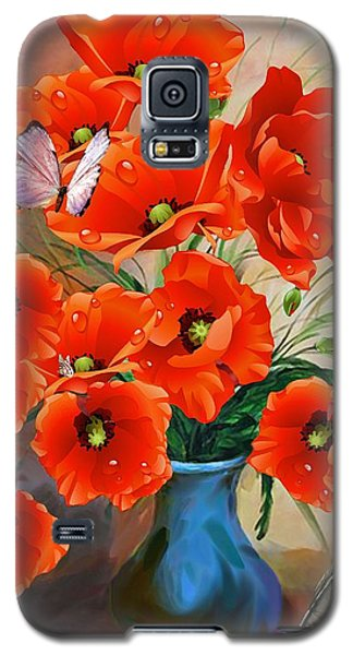Still Life Poppies Galaxy S5 Case