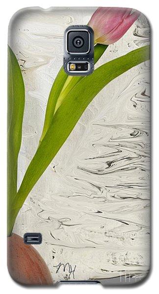 Still Life Tulip Galaxy S5 Case by Marsha Heiken