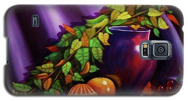 Still Life W/purple Vase Galaxy S5 Case