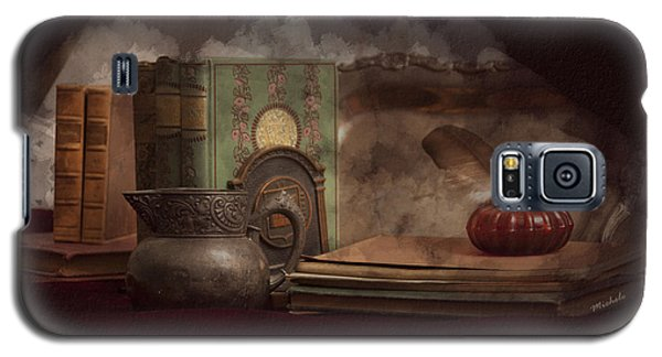 Still Life With Antique Books, Silver Pitcher And Inkwell Galaxy S5 Case