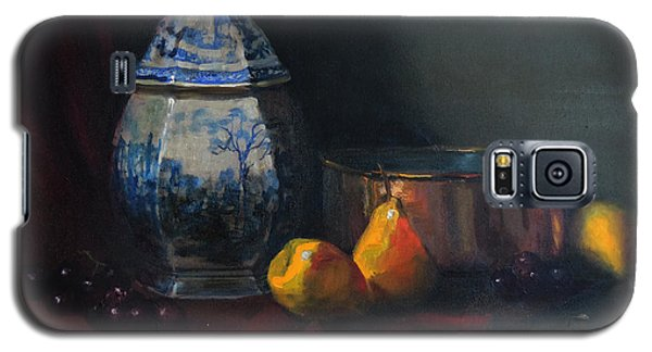 Galaxy S5 Case featuring the painting Still Life With Antique Dutch Vase by Barry Williamson