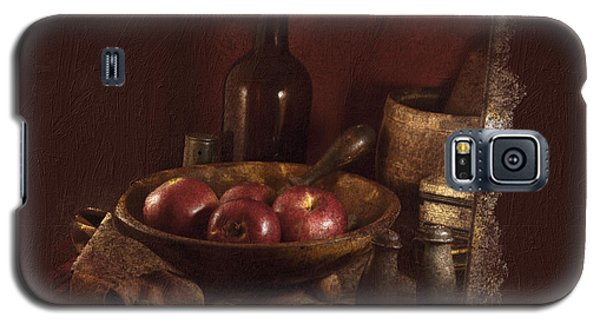 Still Life With Apples, Bottles, Baskets And Shakers. Galaxy S5 Case