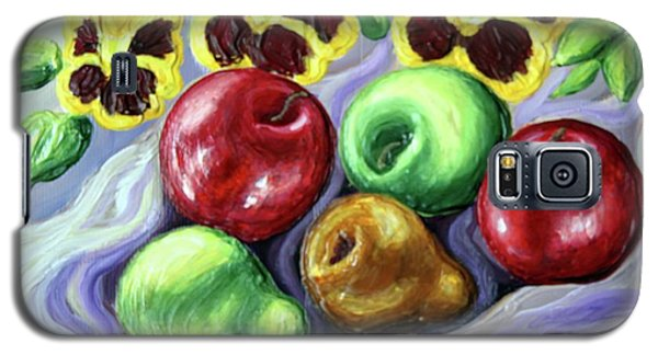 Galaxy S5 Case featuring the painting Still Life With Apples by Inese Poga