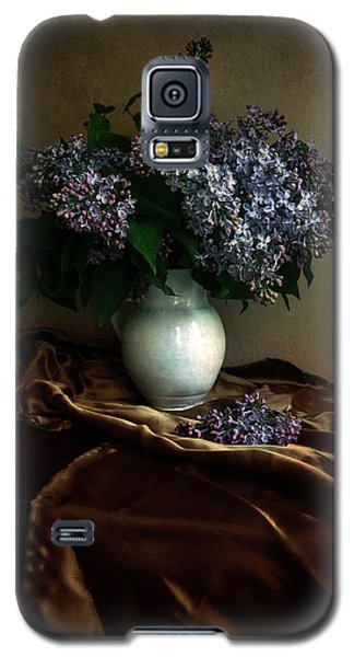 Galaxy S5 Case featuring the photograph Still Life With Bouqet Of Fresh Lilac by Jaroslaw Blaminsky