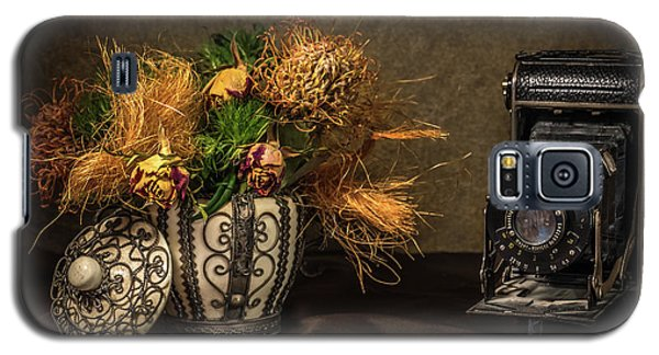 Still Life With Flowers And Camera Galaxy S5 Case