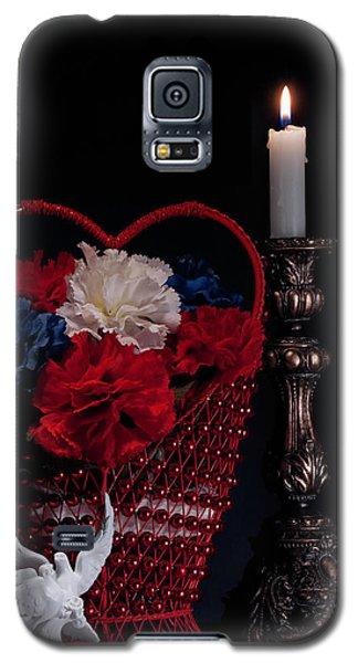 Lovebird Galaxy S5 Case - Still Life With Lovebirds by Tom Mc Nemar