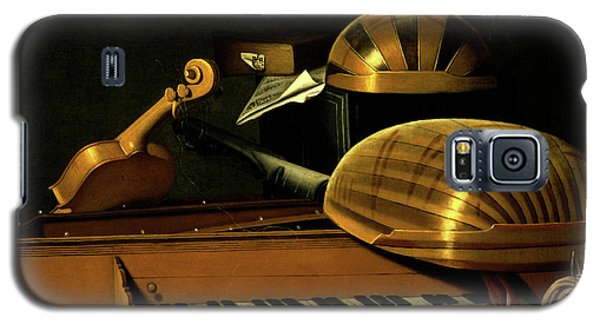 Still Life With Musical Instruments And Books Galaxy S5 Case