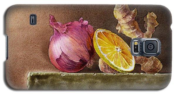 Still Life With Onion Lemon And Ginger Galaxy S5 Case by Irina Sztukowski