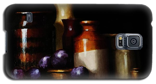 Galaxy S5 Case featuring the painting Still Life With Plums by Barry Williamson