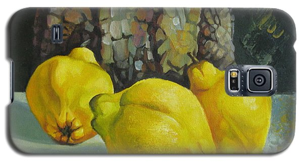 Galaxy S5 Case featuring the painting Still Life With Quinces by Elena Oleniuc