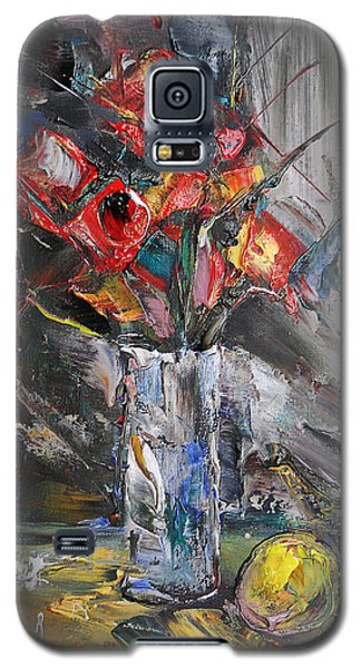 Still Life With Red Flowers And Lemon Galaxy S5 Case