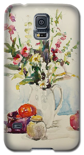 Still Life With Pomegranate Galaxy S5 Case by Becky Kim