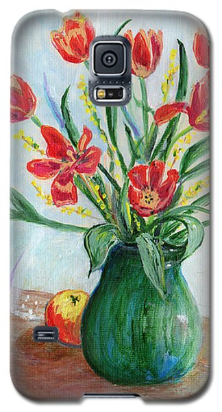 Still Life With Tulips And Apples - Painting Galaxy S5 Case by Veronica Rickard