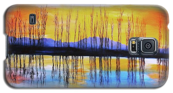 Galaxy S5 Case featuring the painting Still Waters From The Water Series  by Donna Dixon