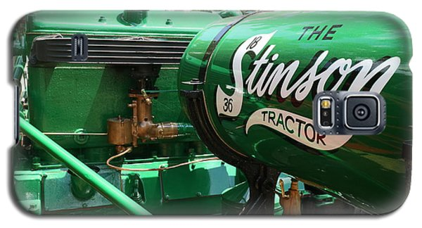 Galaxy S5 Case featuring the photograph Stinson Steam Tractor by Scott Kingery