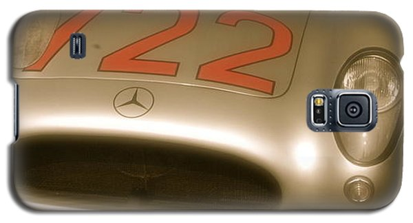 Galaxy S5 Case featuring the photograph Stirling Moss 1955 Mille Miglia Winning 722 Mercedes by John Colley