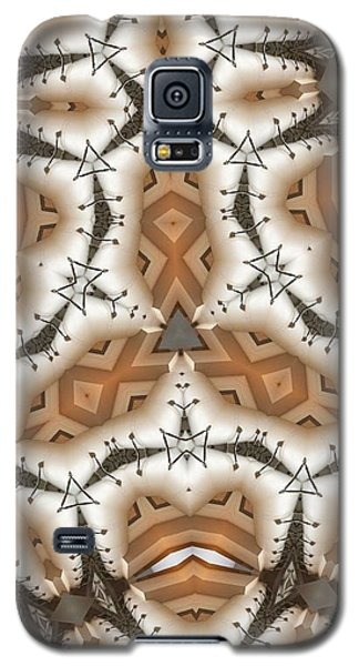 Galaxy S5 Case featuring the digital art Stitched 2 by Ron Bissett