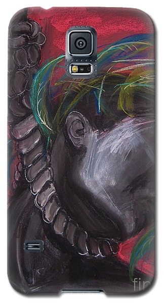 Galaxy S5 Case featuring the drawing Stolen Resource by Gabrielle Wilson-Sealy