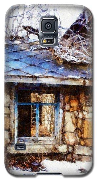 Stone Barn Old Blue Window Galaxy S5 Case