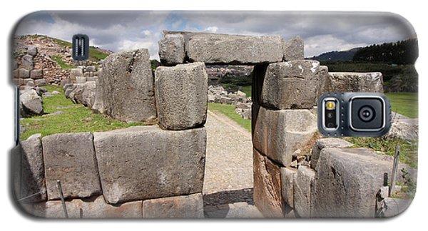 Galaxy S5 Case featuring the photograph Stone Doorway At Sacsaywaman by Aidan Moran