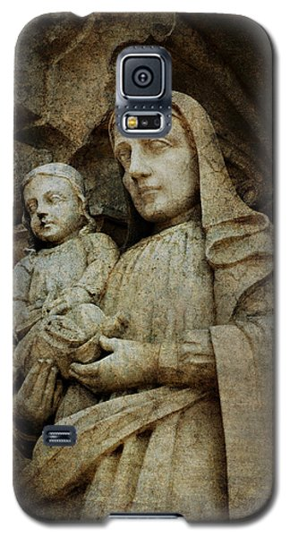 Stone Madonna And Child Galaxy S5 Case