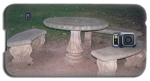 Stone Picnic Table And Benches Galaxy S5 Case