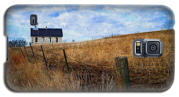 Stone Schoolhouse On The Kansas Prairie Galaxy S5 Case