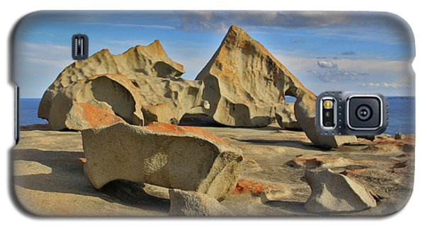 Galaxy S5 Case featuring the photograph Stone Sculpture by Stephen Mitchell