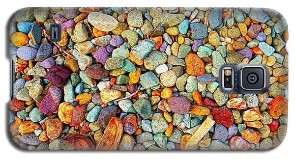 Stones And Barks On Beach Galaxy S5 Case