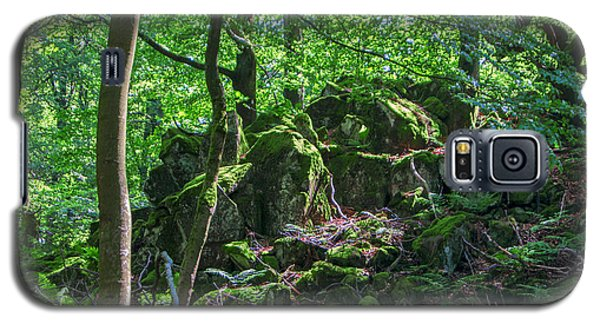 Stones In A Forest In Vogelsberg Galaxy S5 Case