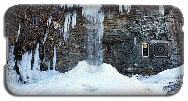 Galaxy S5 Case featuring the photograph Stony Kill Falls In February #2 by Jeff Severson