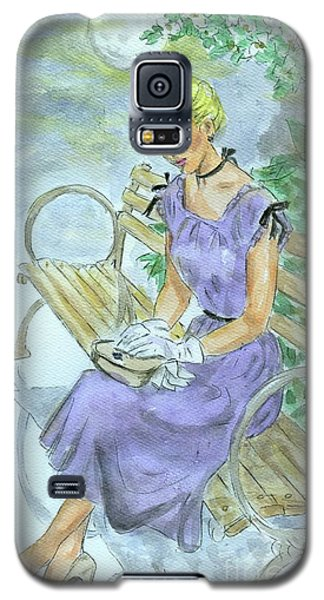 Galaxy S5 Case featuring the painting Stood Up by P J Lewis