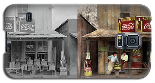 Galaxy S5 Case featuring the photograph Store - Grocery - Mexicanita Cafe 1939 - Side By Side by Mike Savad