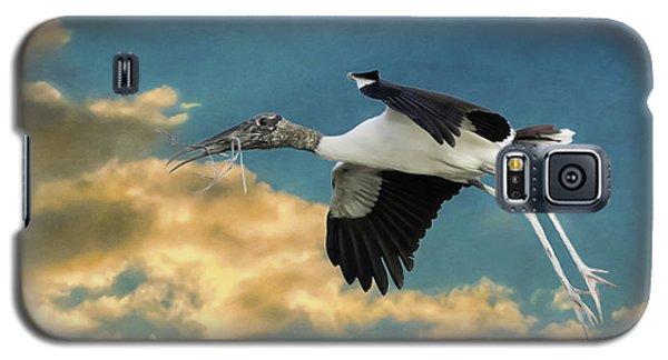 Stork Bringing Nesting Material Galaxy S5 Case