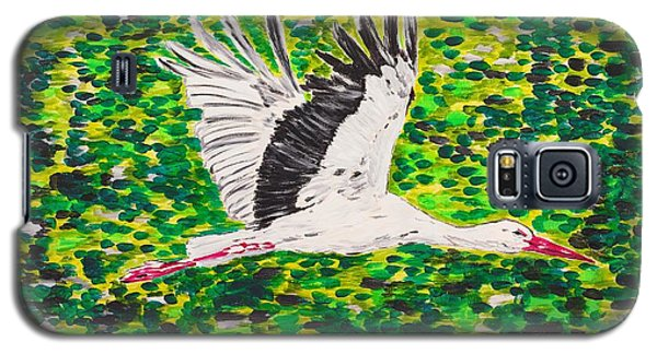 Stork In Flight Galaxy S5 Case by Valerie Ornstein