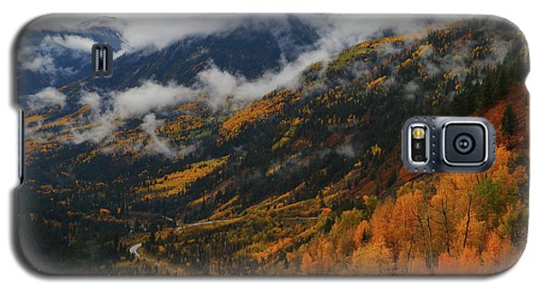 Galaxy S5 Case featuring the photograph Storm Clouds Over Mcclure Pass During Autumn by Jetson Nguyen
