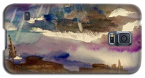 Storm Clouds Over The Desert Galaxy S5 Case by Ellen Levinson