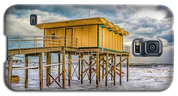 Galaxy S5 Case featuring the photograph Storm Clouds Over The Ocean by Nick Zelinsky