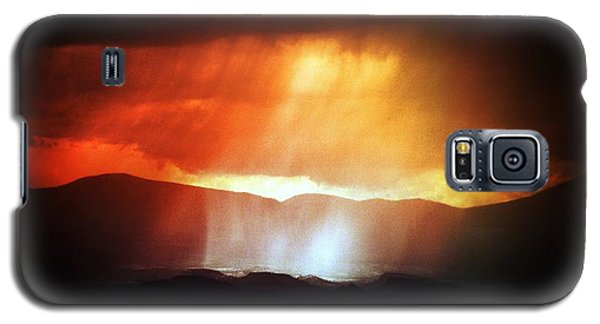 Galaxy S5 Case featuring the photograph Storm Glow Night Over Santa Fe Mountains by Joseph Frank Baraba