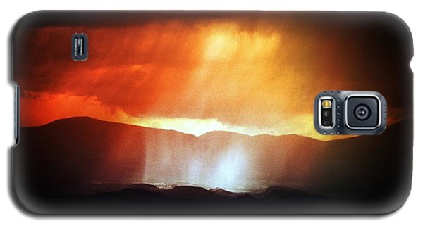 Storm Glow Night Over Santa Fe Mountains Galaxy S5 Case