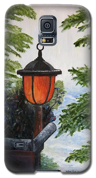 Galaxy S5 Case featuring the painting Storm On Lake Of The Woods by Marilyn  McNish