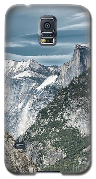 Galaxy S5 Case featuring the photograph Storm Over Half Dome by Sandra Bronstein